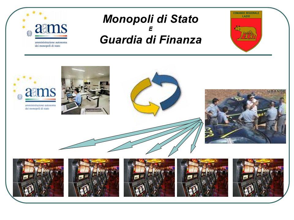 Monopoli di Stato Guardia di Finanza