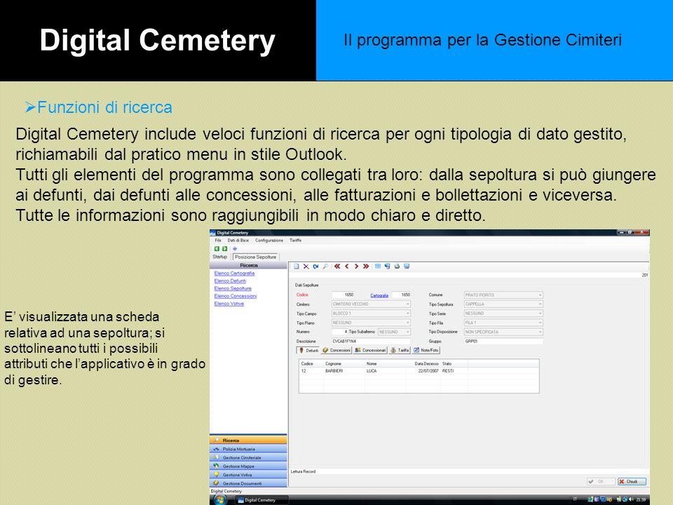 Digital Cemetery Il programma per la Gestione Cimiteri