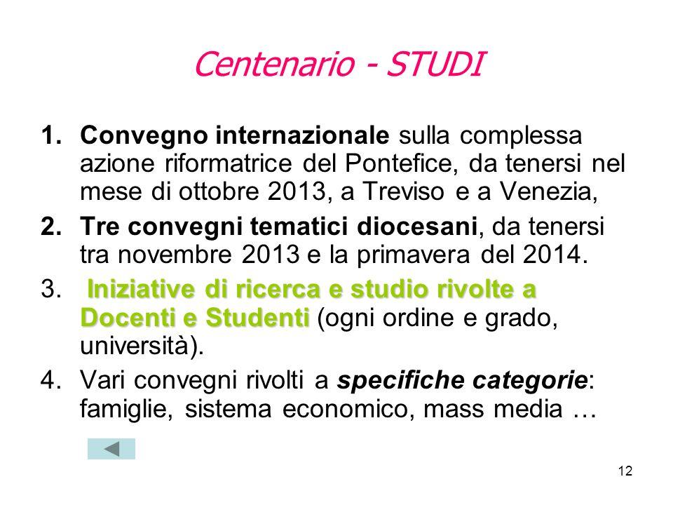 Centenario - STUDI