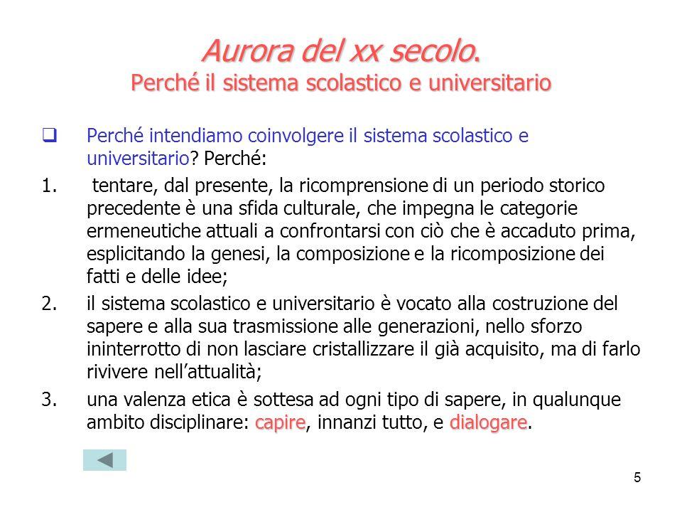 Aurora del xx secolo. Perché il sistema scolastico e universitario