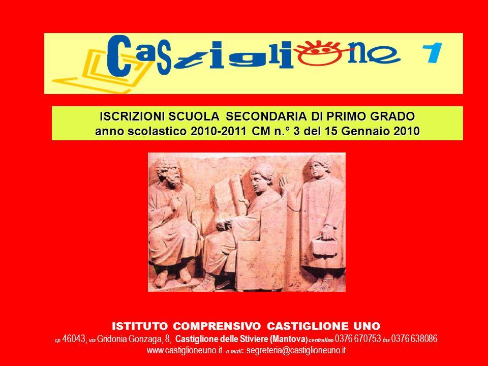 ISCRIZIONI SCUOLA SECONDARIA DI PRIMO GRADO