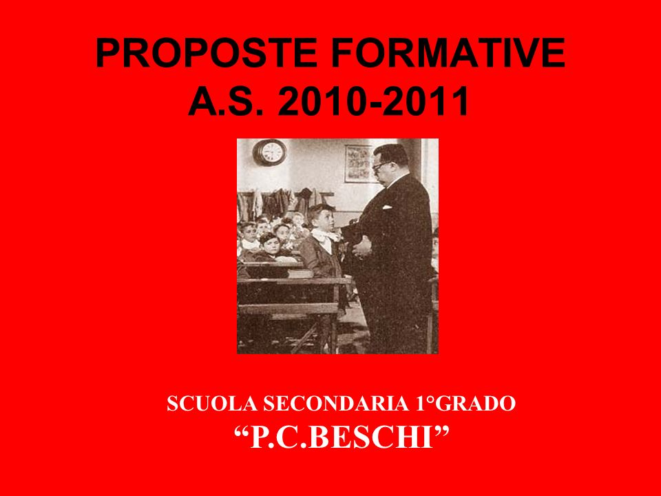 PROPOSTE FORMATIVE A.S. 2010-2011