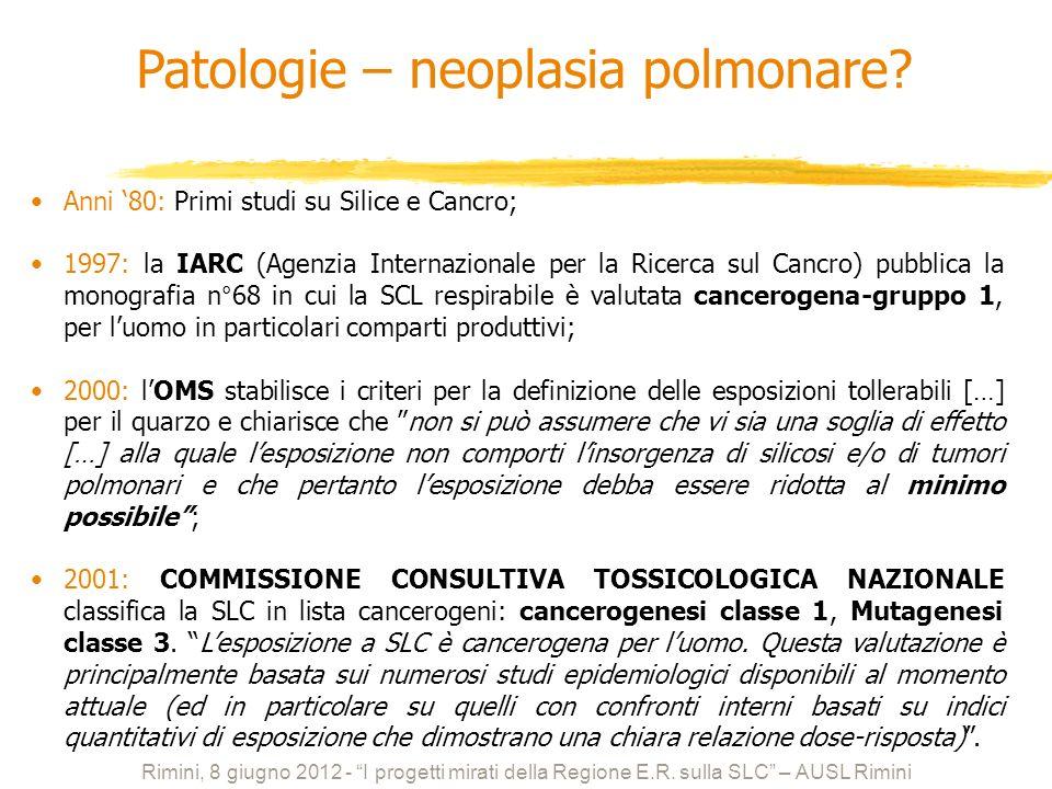 Patologie – neoplasia polmonare