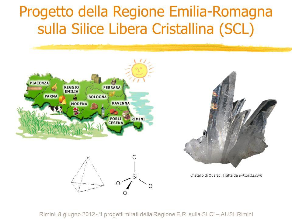 Progetto della Regione Emilia-Romagna sulla Silice Libera Cristallina (SCL)