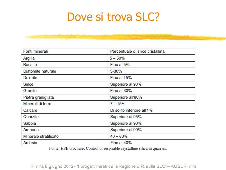 Dove si trova SLC. Rimini, 8 giugno 2012 - I progetti mirati della Regione E.R.