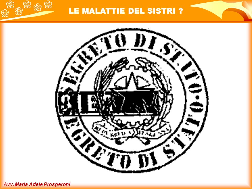 LE MALATTIE DEL SISTRI