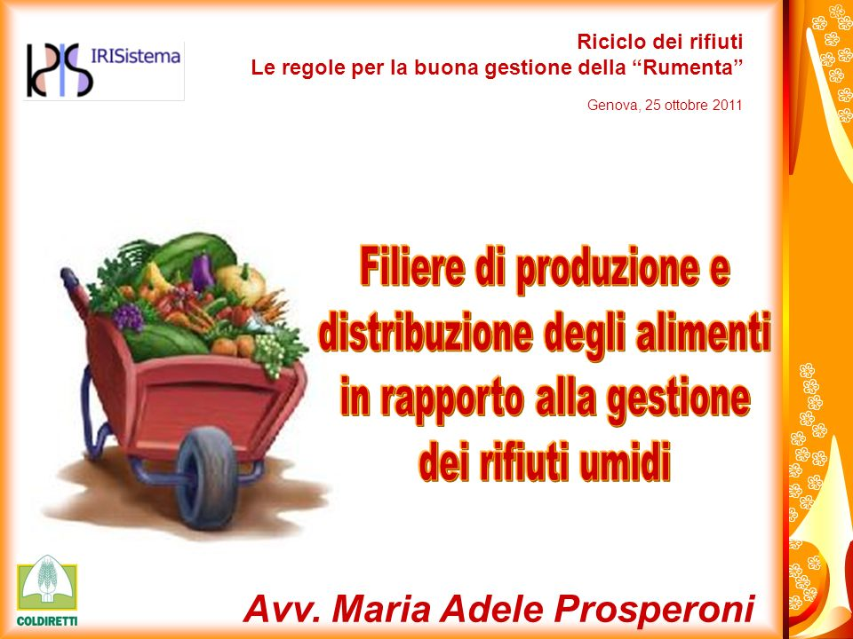Filiere di produzione e distribuzione degli alimenti