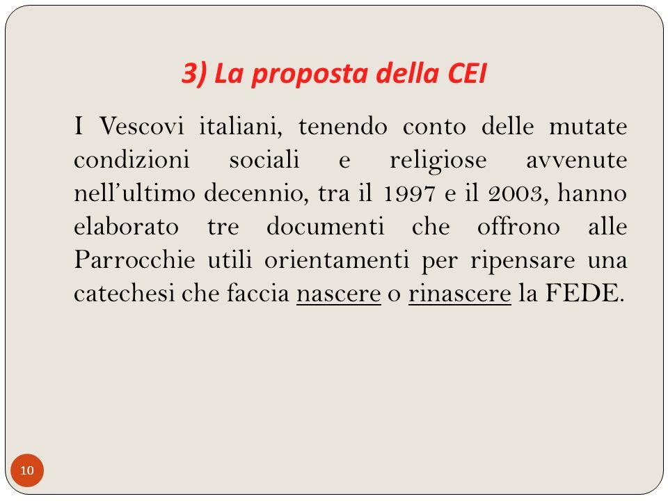 3) La proposta della CEI