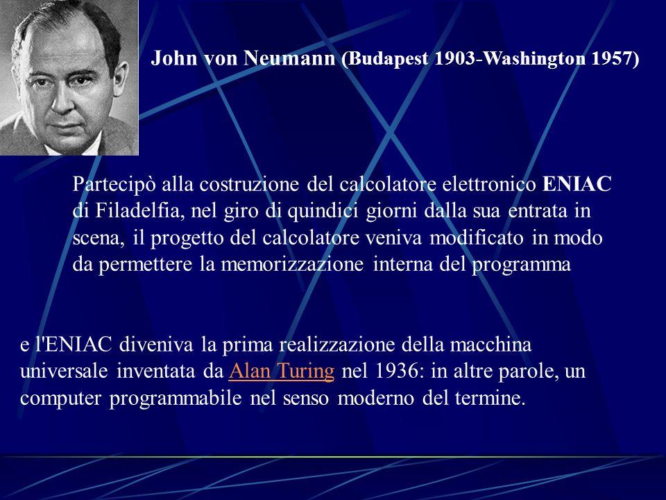 John von Neumann (Budapest 1903-Washington 1957)