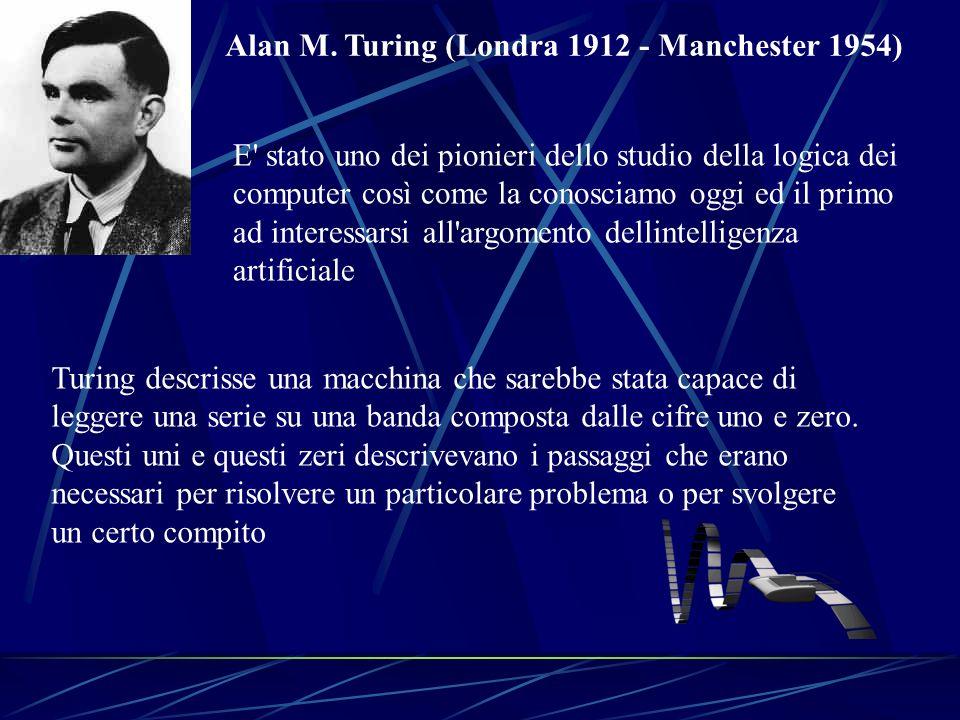 Alan M. Turing (Londra 1912 - Manchester 1954)
