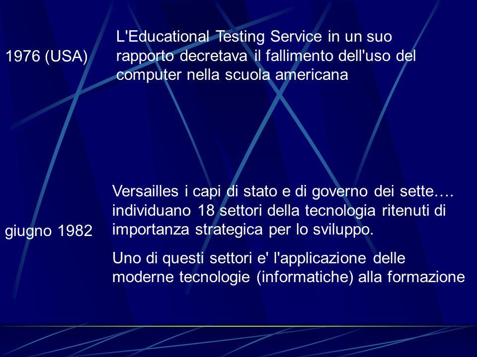 L Educational Testing Service in un suo rapporto decretava il fallimento dell uso del computer nella scuola americana