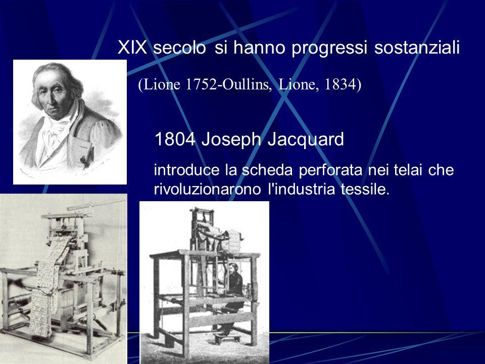 XIX secolo si hanno progressi sostanziali
