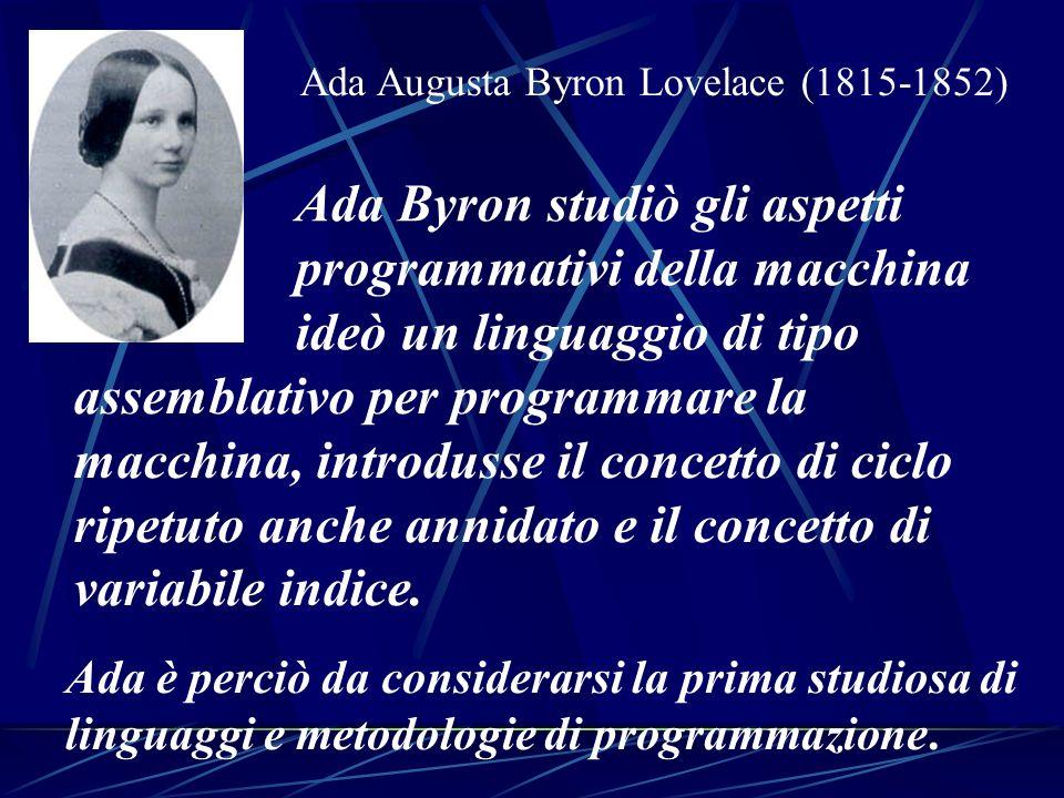 Ada Augusta Byron Lovelace (1815-1852)