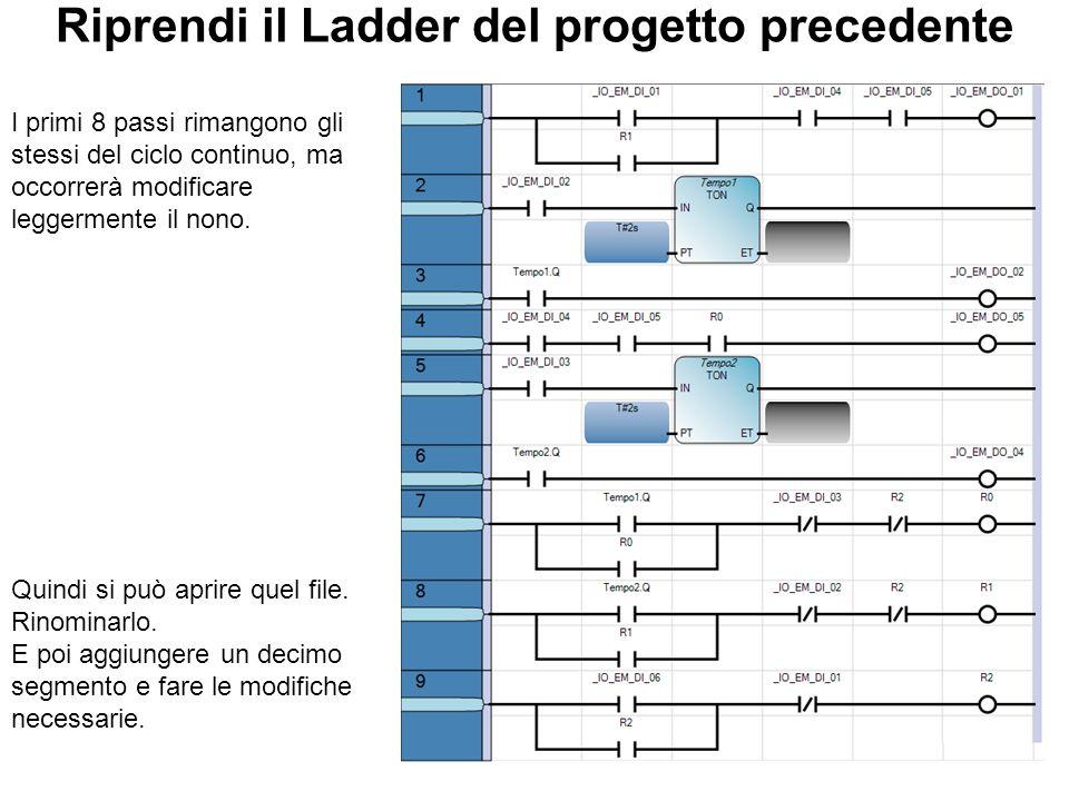 Riprendi il Ladder del progetto precedente