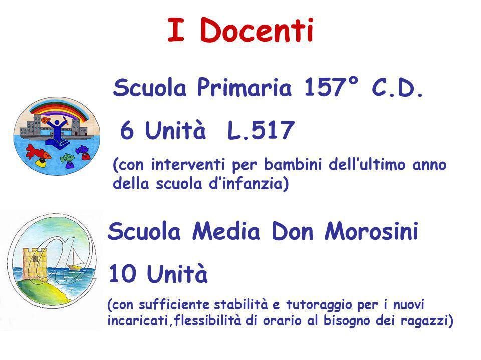 I Docenti Scuola Primaria 157° C.D. 6 Unità L.517