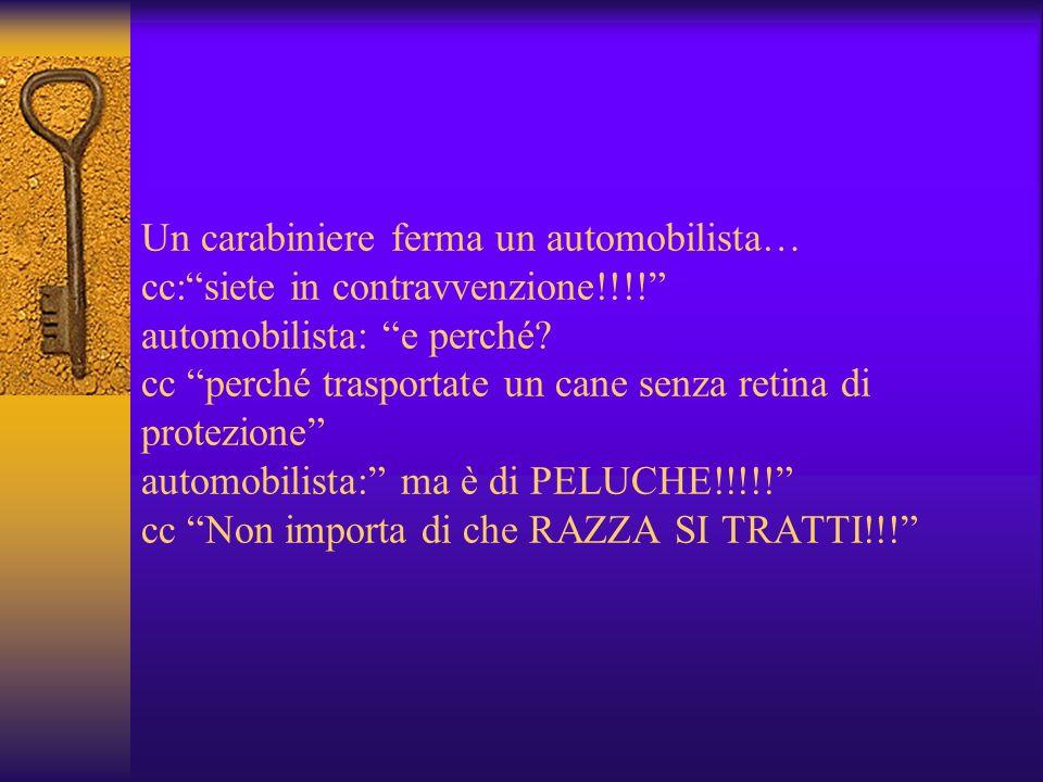 Un carabiniere ferma un automobilista… cc: siete in contravvenzione