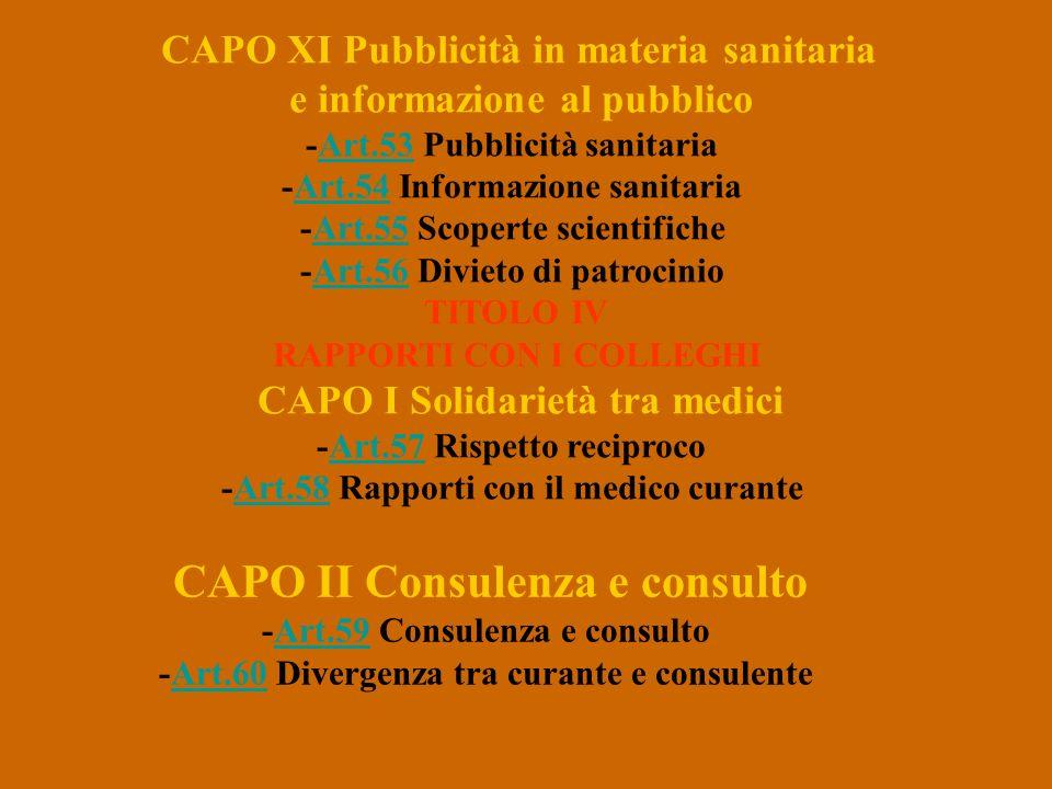 CAPO II Consulenza e consulto