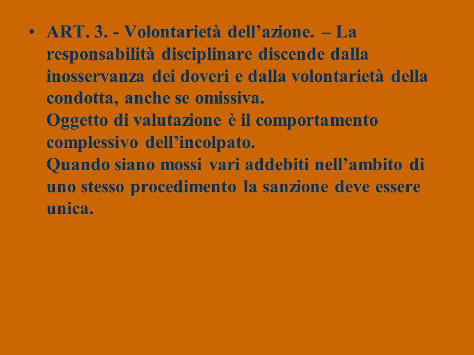 ART. 3. - Volontarietà dell'azione