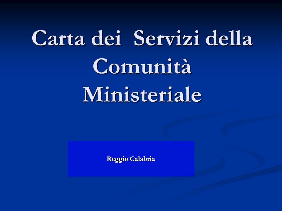 Carta dei Servizi della Comunità Ministeriale