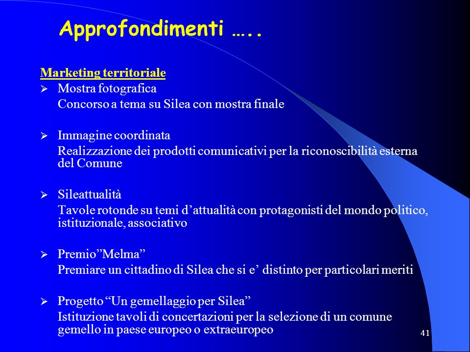 Approfondimenti ….. Marketing territoriale Mostra fotografica