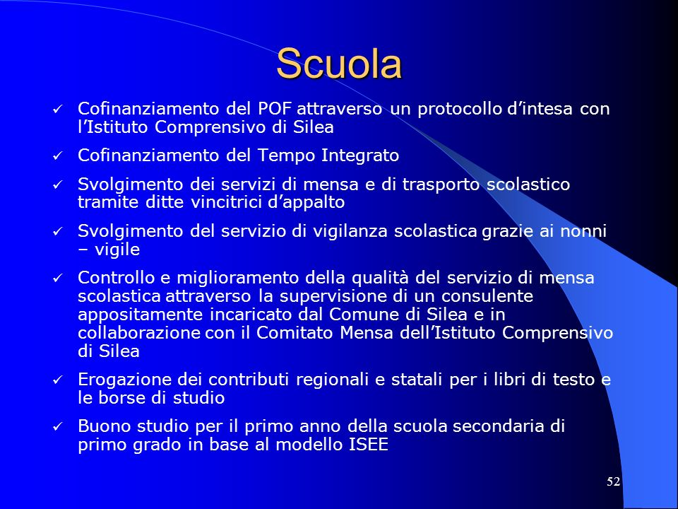 Scuola Cofinanziamento del POF attraverso un protocollo d'intesa con l'Istituto Comprensivo di Silea.