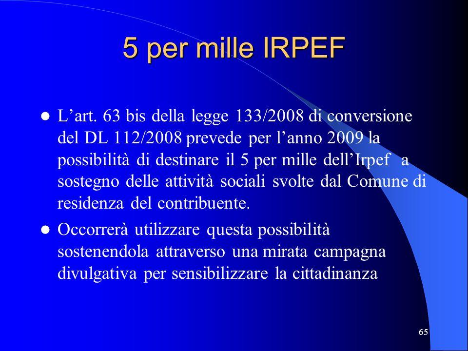 5 per mille IRPEF