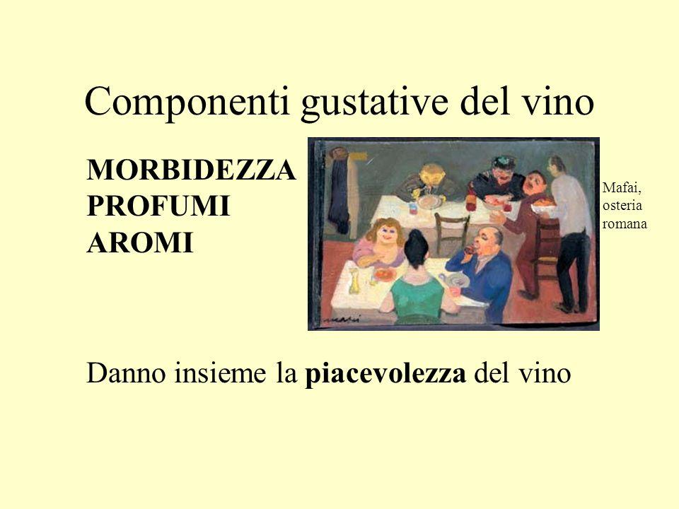 Componenti gustative del vino