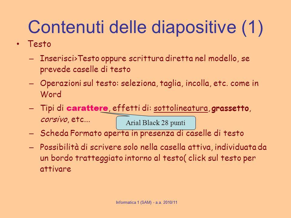 Contenuti delle diapositive (1)