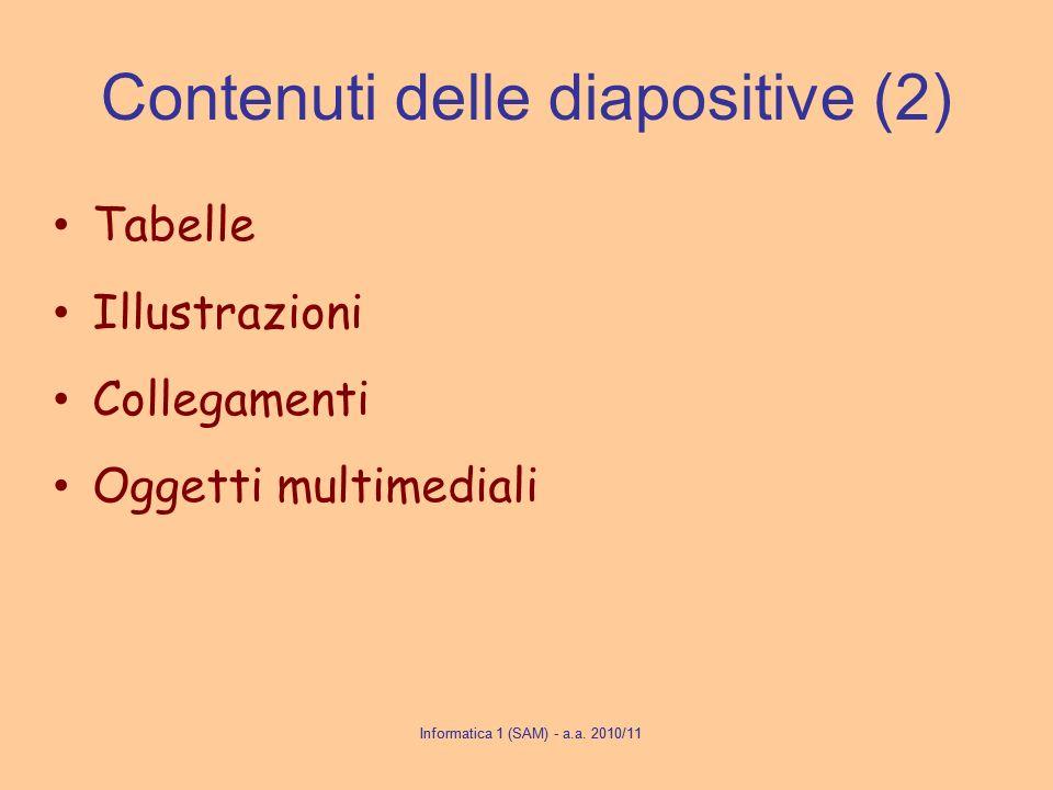 Contenuti delle diapositive (2)