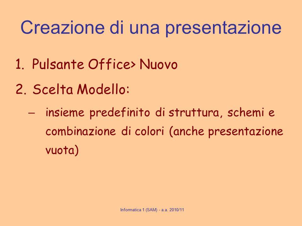 Creazione di una presentazione