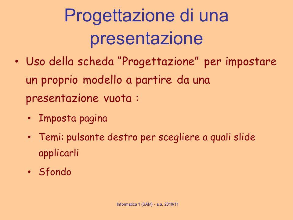 Progettazione di una presentazione