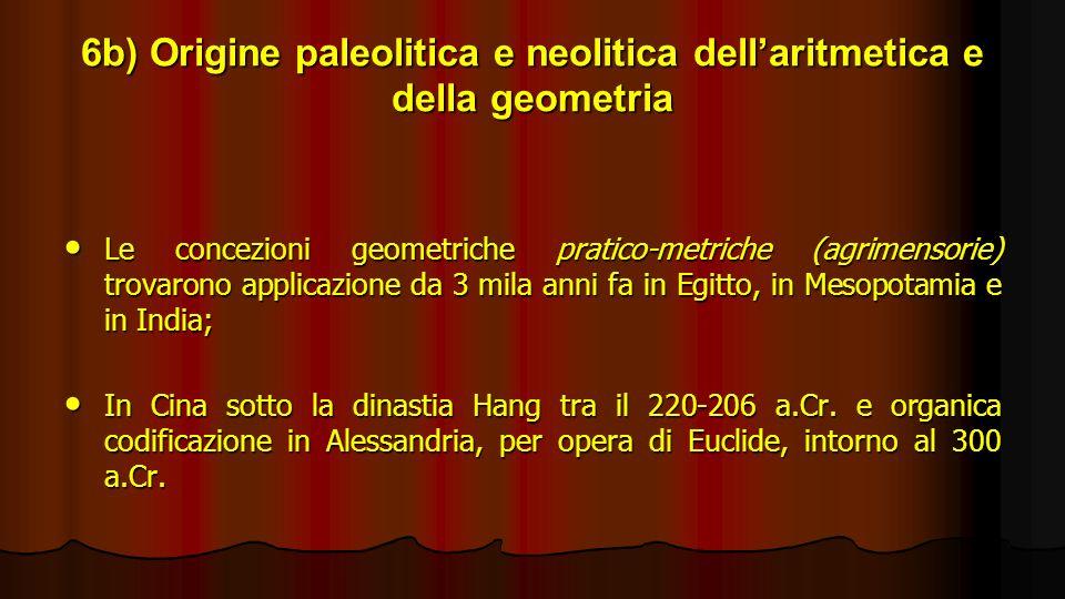 6b) Origine paleolitica e neolitica dell'aritmetica e della geometria