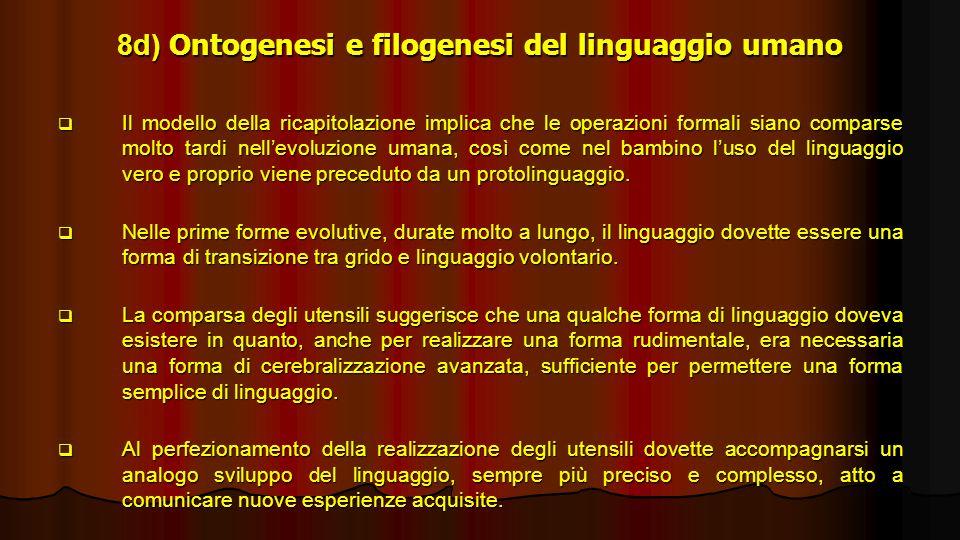 8d) Ontogenesi e filogenesi del linguaggio umano
