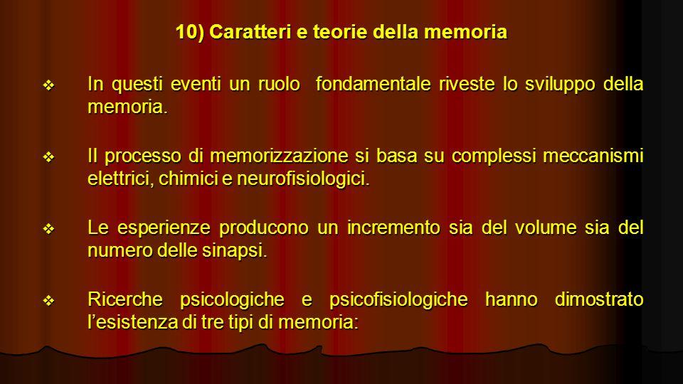 10) Caratteri e teorie della memoria