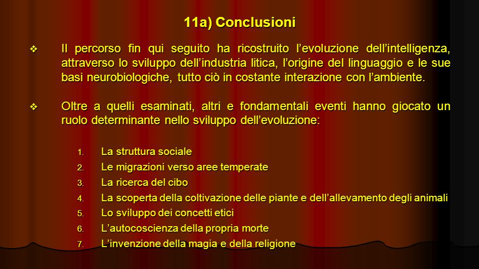 11a) Conclusioni