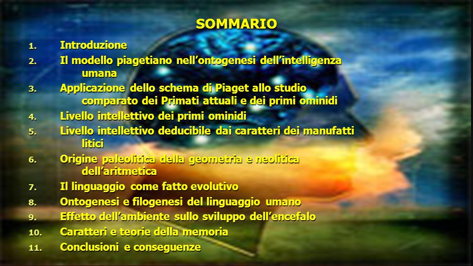 SOMMARIO Introduzione