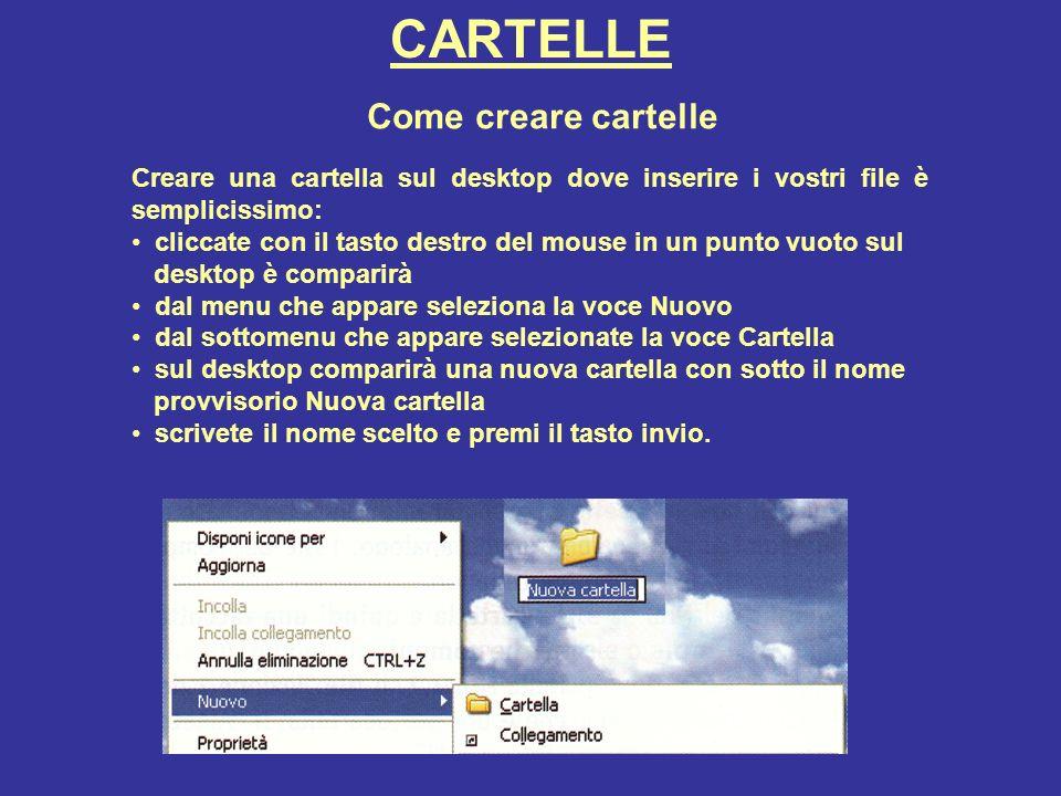 CARTELLE Come creare cartelle