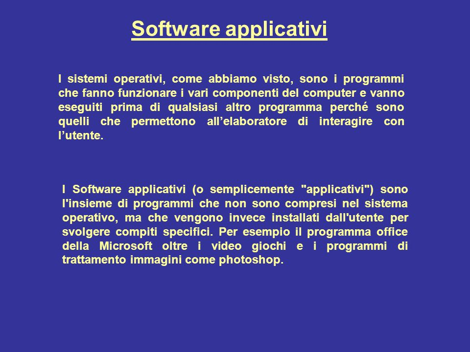 Software applicativi