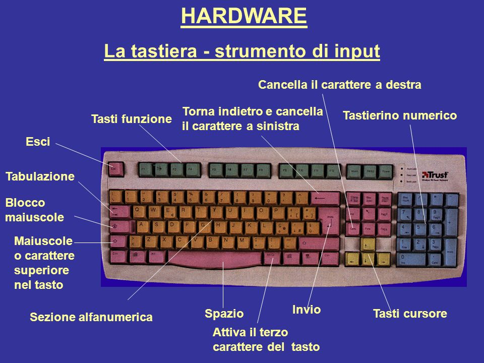 La tastiera - strumento di input