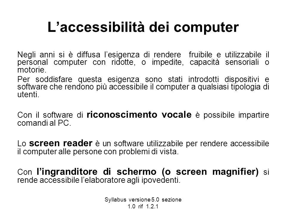 L'accessibilità dei computer