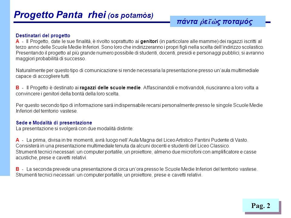 Pag. 2 Destinatari del progetto