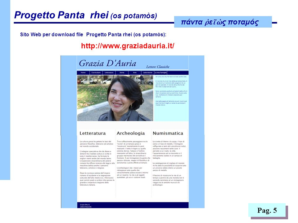 http://www.graziadauria.it/ Pag. 5