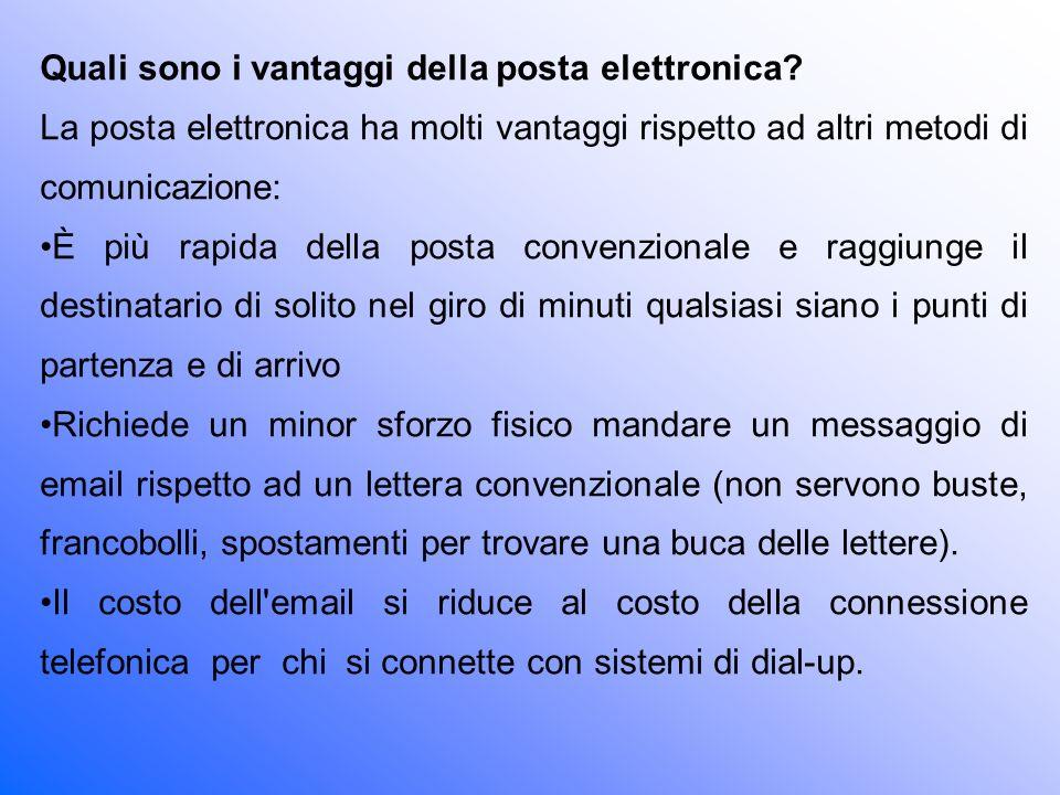 Quali sono i vantaggi della posta elettronica