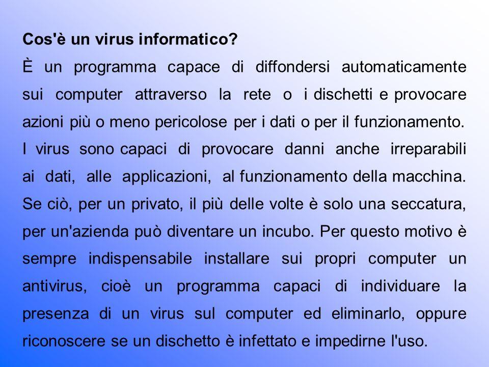 Cos è un virus informatico
