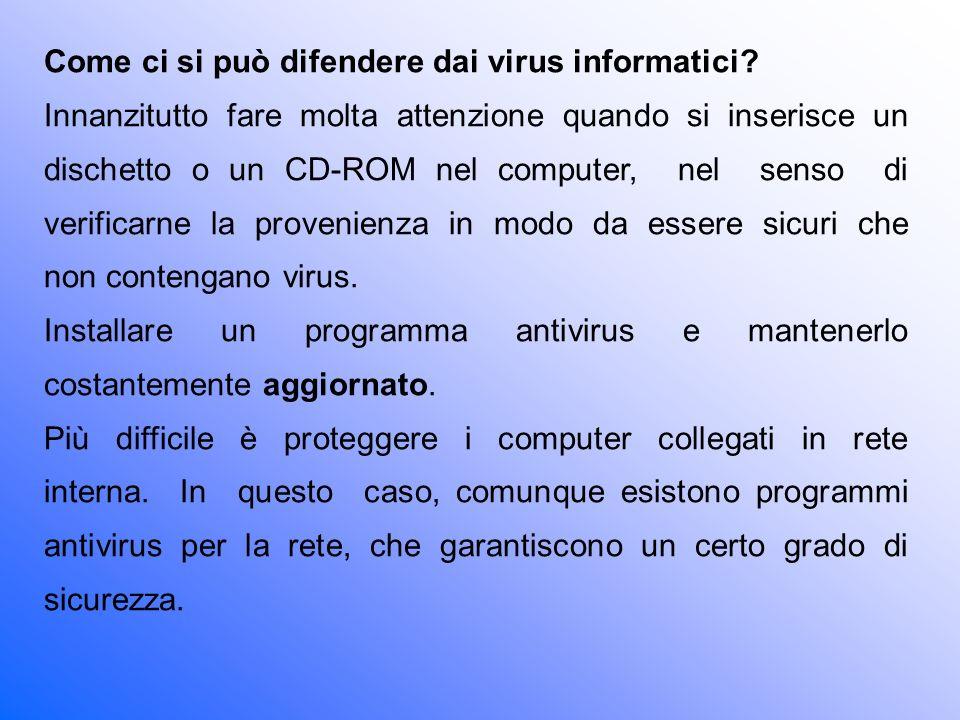 Come ci si può difendere dai virus informatici