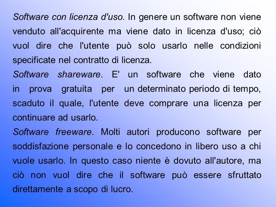 Software con licenza d uso
