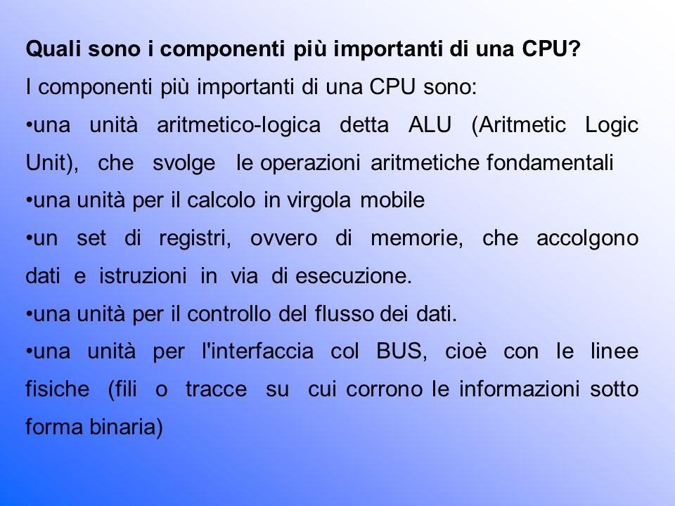 Quali sono i componenti più importanti di una CPU