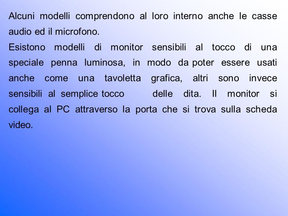 Alcuni modelli comprendono al loro interno anche le casse audio ed il microfono.