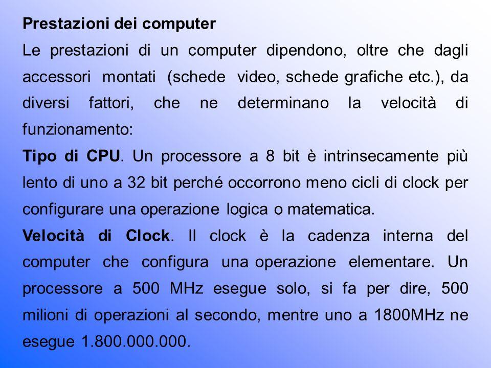 Prestazioni dei computer