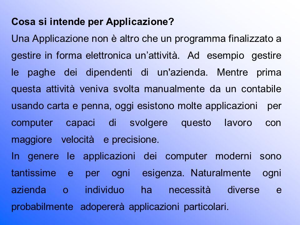 Cosa si intende per Applicazione